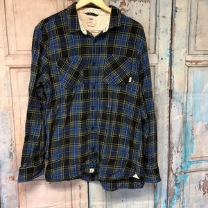 Vans Off The Wall  Long Sleeve Button Front Size L